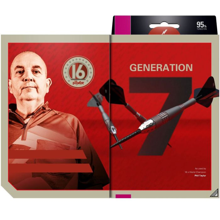 Phil Taylor Power Gen7 dartpijlen